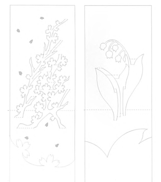Схемы киригами открытки, картинки